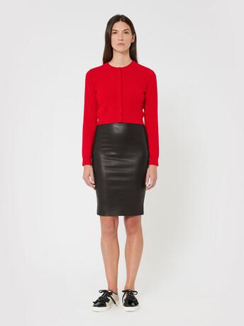 Leather skirt - Noir