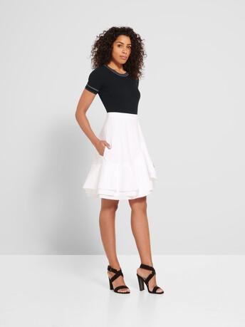 Pull en coton - Noir / blanc casse
