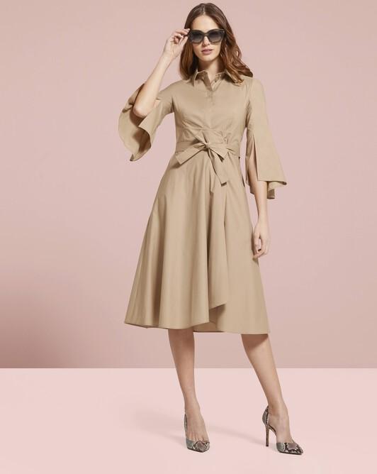Cotton-poplin dress - Beige