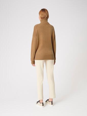 Pull en laine - Camel / noir