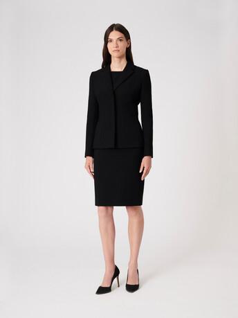 Stretch-tricotine jacket - Noir