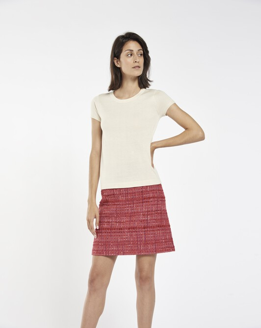 Sweater in cashmere silk - Ivory