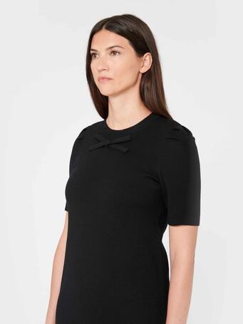 Merino wool dress - Noir