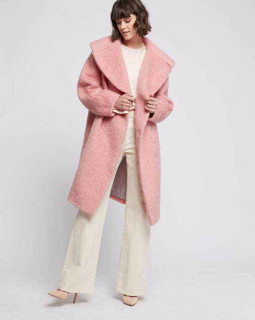 Manteau à col XXL en laine alpaga