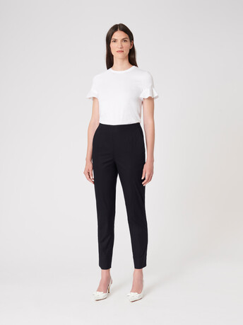 Cotton poplin pants - Noir