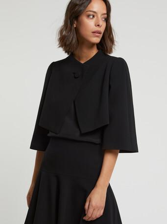 Veste habillée en crêpe envers satin - Noir