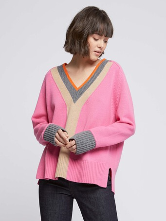 KNITTED SWEATER - Bubble gum
