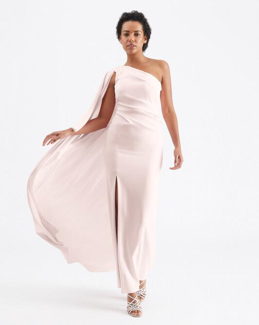 Satin-back crepe dress - Magnolia