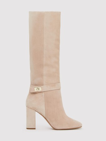 Suede boots - Nude