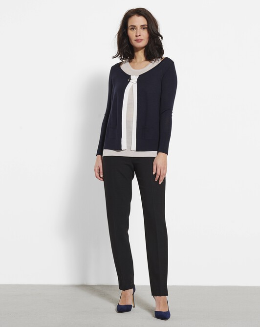 Merino wool sweater - Marine / mastic