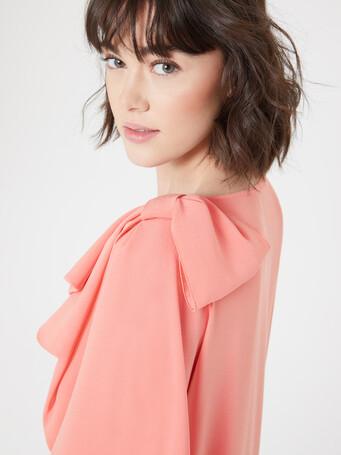 Satin-back crepe gown - Eau de rose