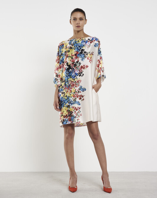 Twill dress - Multicolore
