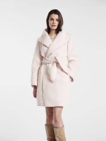 Manteau en mohair pastel - Rose pale