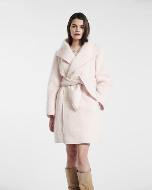Pastel mohair coat - Rose pale