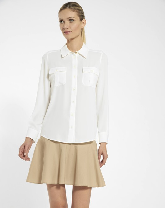 Shirt in georgette crepe - Off white