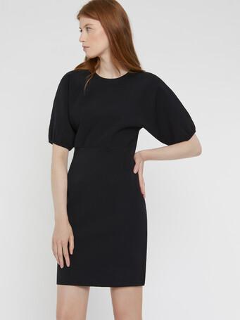 Technical-knit dress - Noir