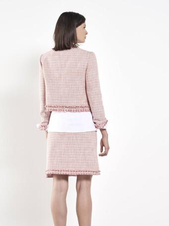 Veste en tweed tressé - Pivoine