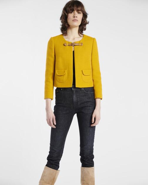 Jacket in cotton dobby