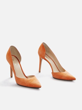 Escarpins en cuir suède - Orange