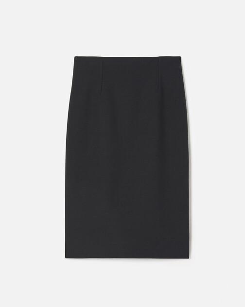 Stretch tricotine skirt
