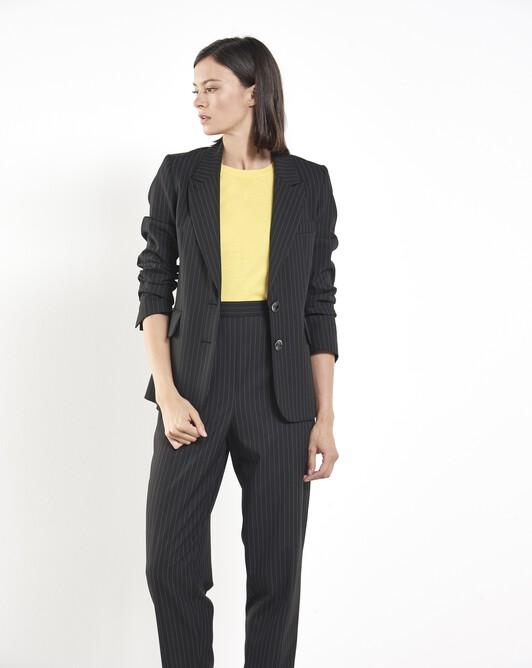 Pinstriped blazer - Noir