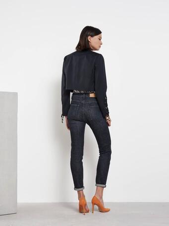 Veste en gabardine de coton - Noir