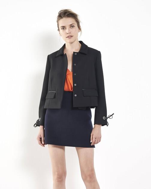 Stretch tricotine jacket