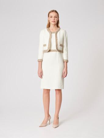 Plumetis canvas jacket - Off white