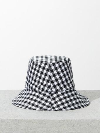 Chapeau en damier - Noir / blanc