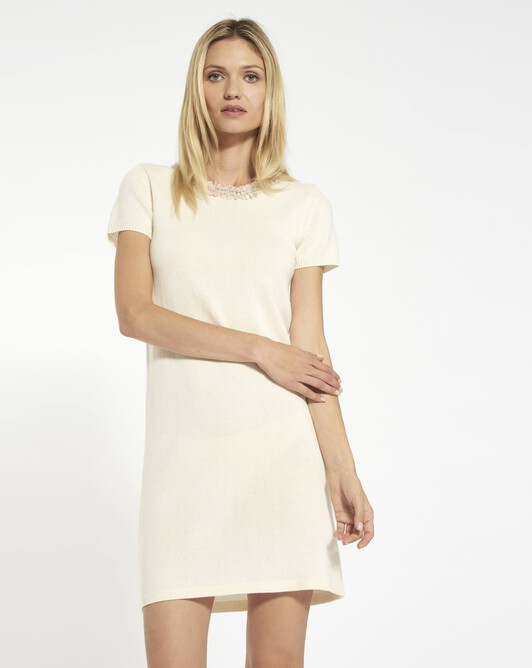 Cashmere wool dress - Naturel