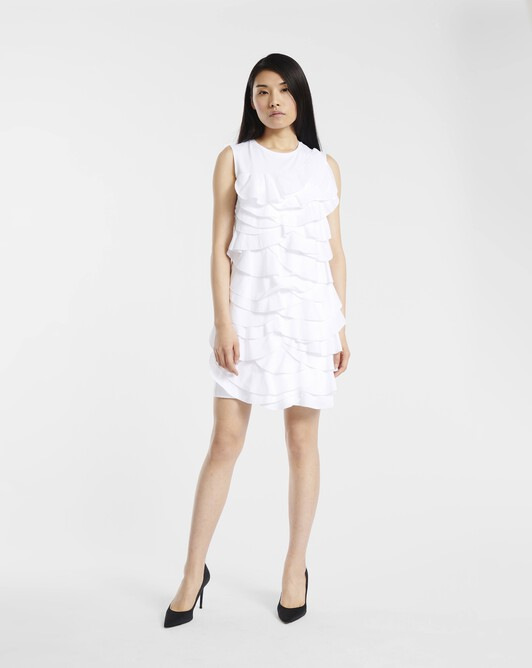 Dress in jersey and poplin - White