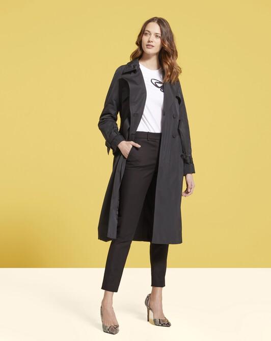 Pantalon en gabardine de coton - Noir