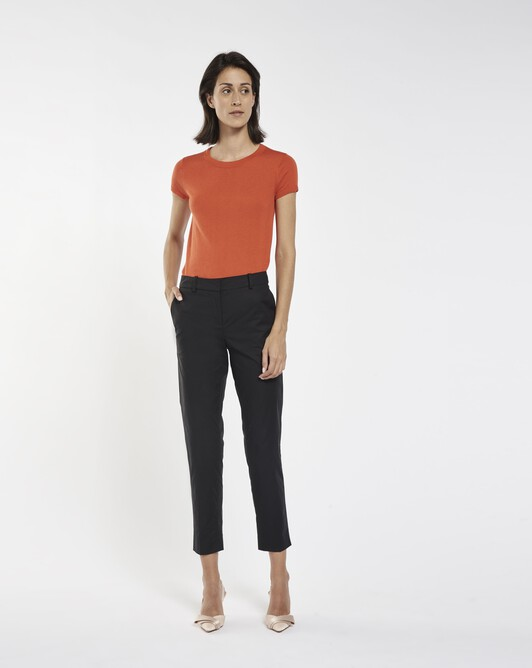 Pantalon de coton stretch - Noir