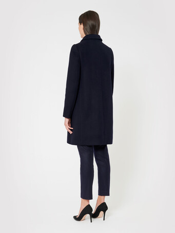 Double-faced coat - Navy blue