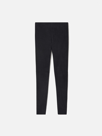 Pantalon slim en velours d'agneau - Marine