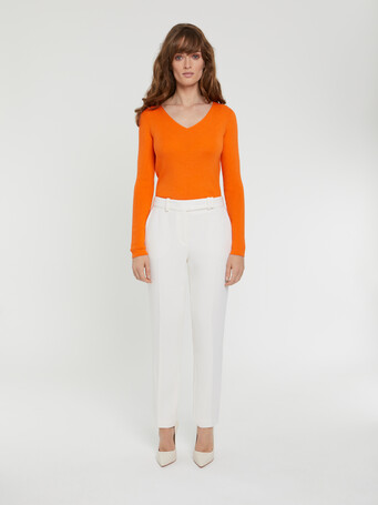 KNITTED SWEATER - Tangerine