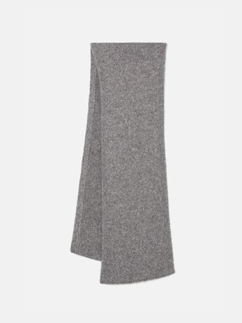 Alpaca, wool and cotton scarf - Souris
