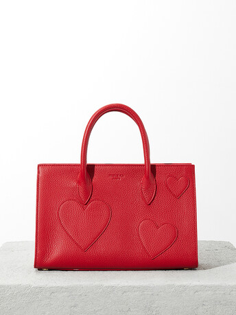 Grained-leather bag - Pomme d'amour