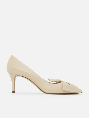 Pumps in nappa leather - Mastic