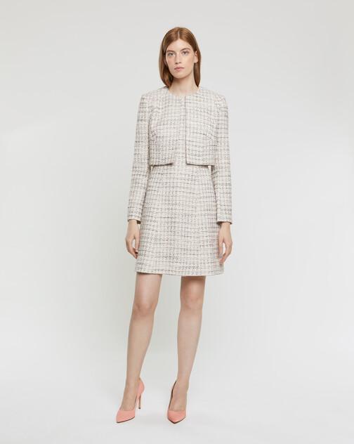 Robe courte en tweed mini nœuds