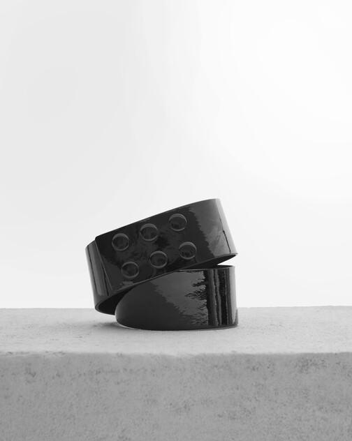 Ceinture en cuir vernis
