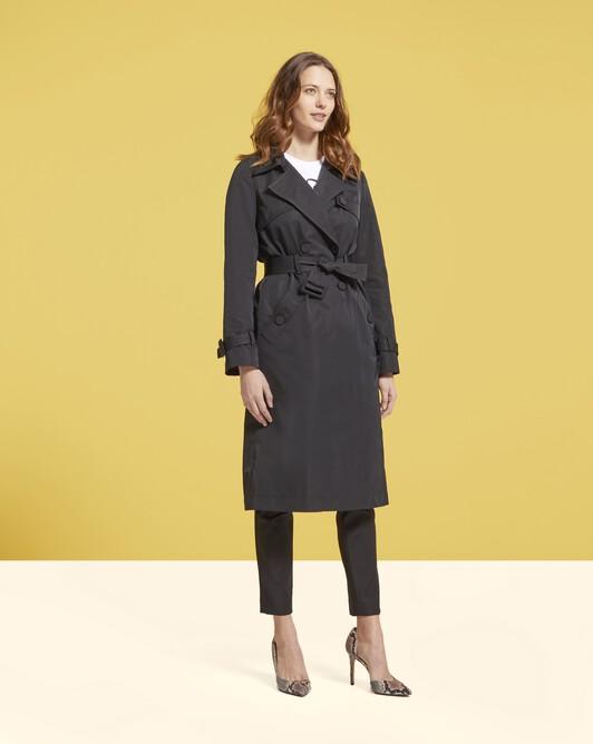 Manteau en faille - Noir