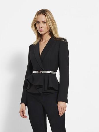 Stretch tricotine jacket - Noir