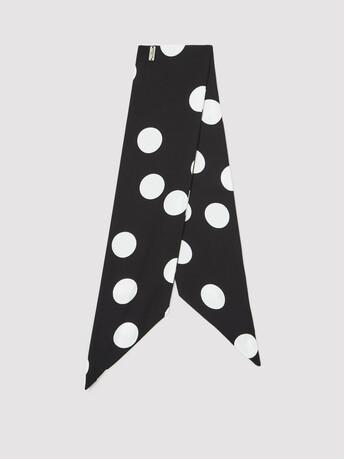 Crepe scarf - Noir / blanc