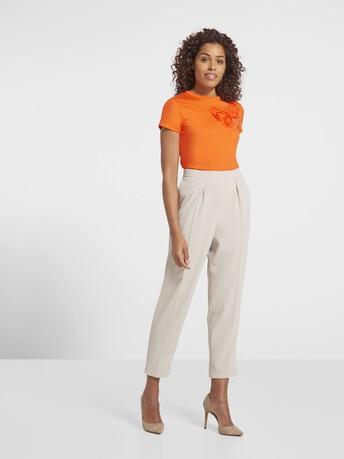 T-shirt en jersey de coton - Orange