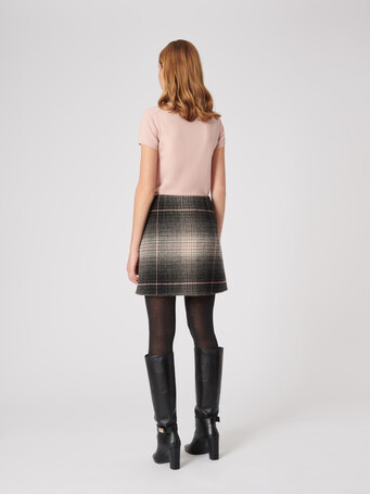 Check double-faced skirt - Multicolore