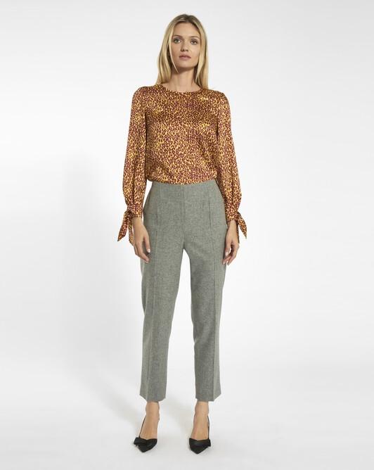 Pantalon en drap de laine - Souris