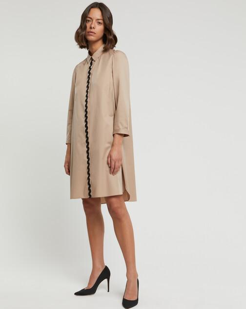Stretch-satin poplin dress