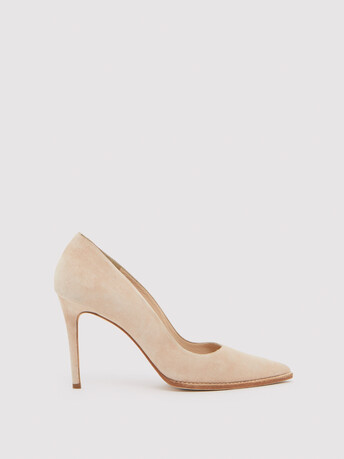 Suede pumps - Nude