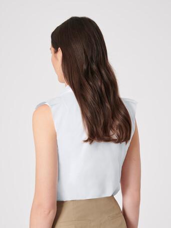 Cotton poplin shirt - White